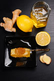 Honey with lemon and ginger Stock Images