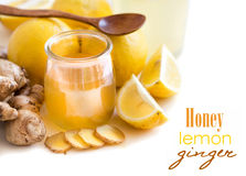Honey, lemon and ginger Stock Photography