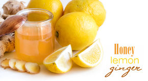 Honey, lemon and ginger Stock Images