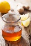 Honey lemon and ginger Stock Photo