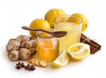 Honey, lemon and ginger tonic Royalty Free Stock Image