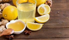 Honey, lemon and ginger tonic Royalty Free Stock Photo