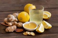 Honey, lemon and ginger tonic Stock Photo
