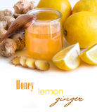 Honey, lemon and ginger Stock Photo