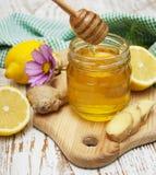Honey,  lemon and ginger Stock Images