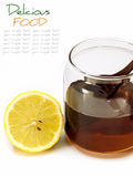 Honey and lemon isolate on white Stock Image