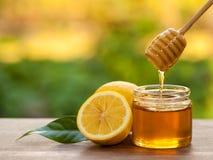 Honey Lemon. In a Jar Stock Photography