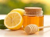Honey Lemon. In a Jar Royalty Free Stock Photos