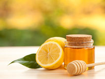 Honey Lemon. In a Jar Royalty Free Stock Photography