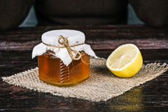 Honey and lemon Royalty Free Stock Photography