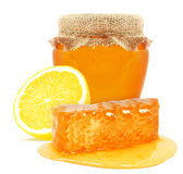 Honey and lemon Royalty Free Stock Photo