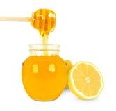 Honey and lemon Royalty Free Stock Images