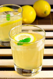 Honey lemon juice. For summer afternoon Stock Images