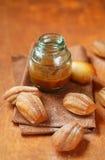 Honey Lemon Madeleines senza uovo e senza latteria fotografia stock libera da diritti