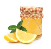 Honey with lemon and mint Royalty Free Stock Photography