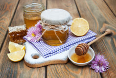 Honey and lemon Stock Photos