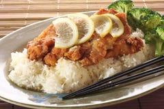 Honey lemon seafood. royalty free stock photos