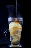 Honey in lemon tea Royalty Free Stock Photography