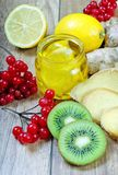 Honey lemon viburnum folk medicine. Close-up Stock Photo