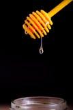 Honey lemon and vitamin c capsules Royalty Free Stock Photos