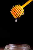 Honey lemon and vitamin c capsules Stock Photography