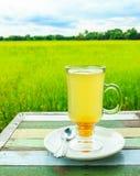 Honey lemon on wood table Stock Photo