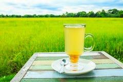 Honey lemon on wood table Stock Image