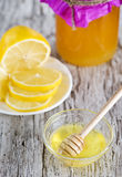 Honey and lemons Royalty Free Stock Photo