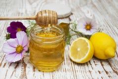 Honey and lemons Stock Image