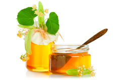 Honey and linden Stock Images