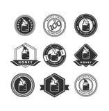 Honey logo Royalty Free Stock Image