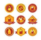 Honey logo Stock Images