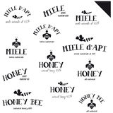 Honey logos Stock Image