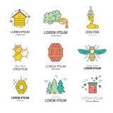 Honey logos Stock Photo