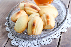 Honey Madeleines biscuits Royalty Free Stock Photos
