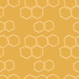 Honey Meadows seamless  pattern Royalty Free Stock Photography