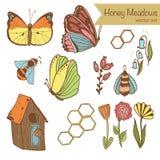 Honey Meadows uppsättning Arkivbild