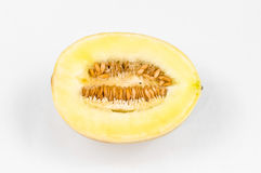 Honey melon. Honey dew melon on white Stock Photography