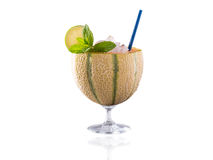 Honey melon cocktail on the glass Stock Image