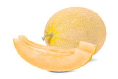 Honey melon in white background Royalty Free Stock Image