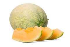 Honey melon in white background 2 Stock Images