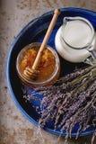 Honey, milk and lavender Stock Image