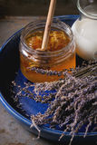 Honey, milk and lavender Royalty Free Stock Photography