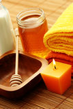Honey and milk spa Stock Images