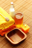 Honey and milk spa Stock Image