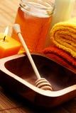Honey and milk spa Royalty Free Stock Photo