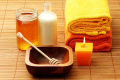 Honey and milk spa Royalty Free Stock Photos