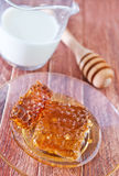 Honey and milk Stock Photos