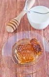 Honey and milk Stock Photo