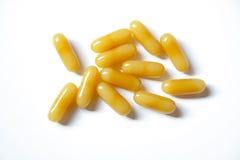 Honey milk yellow vitamin. Natural honey milk yellow vitamin for health Stock Image